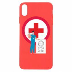 Чохол для iPhone Xs Max Stop virus and doctor