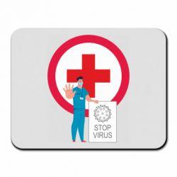 Килимок для миші Stop virus and doctor