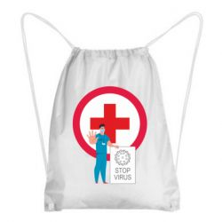 Рюкзак-мішок Stop virus and doctor