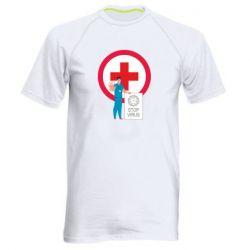 Чоловіча спортивна футболка Stop virus and doctor