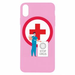 Чохол для iPhone X/Xs Stop virus and doctor