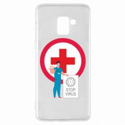 Чохол для Samsung A8+ 2018 Stop virus and doctor