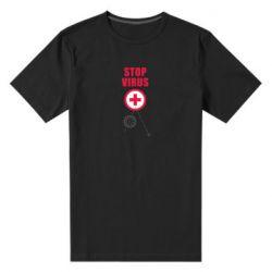Чоловіча стрейчева футболка Stop virus