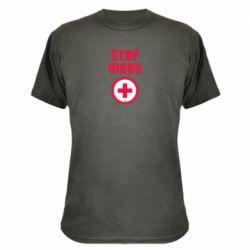 Камуфляжна футболка Stop virus