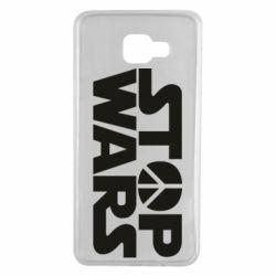 Чехол для Samsung A7 2016 Stop Wars peace