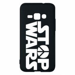 Чехол для Samsung J1 2016 Stop Wars peace