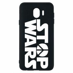 Чехол для Samsung J4 Stop Wars peace