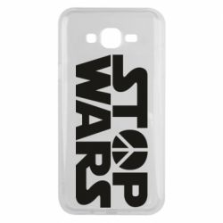 Чехол для Samsung J7 2015 Stop Wars peace