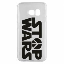 Чехол для Samsung S6 EDGE Stop Wars peace