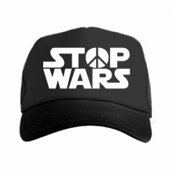 Кепка-тракер Stop Wars peace