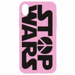 Чехол для iPhone XR Stop Wars peace