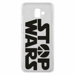 Чехол для Samsung J6 Plus 2018 Stop Wars peace