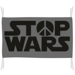 Флаг Stop Wars peace
