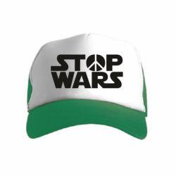 Детская кепка-тракер Stop Wars peace