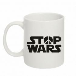 Кружка 320ml Stop Wars peace