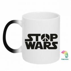 Кружка-хамелеон Stop Wars peace