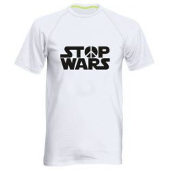 Мужская спортивная футболка Stop Wars peace
