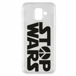 Чехол для Samsung A6 2018 Stop Wars peace