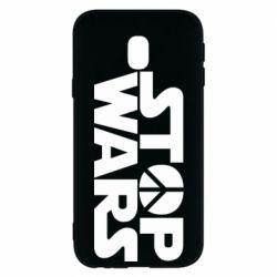 Чехол для Samsung J3 2017 Stop Wars peace