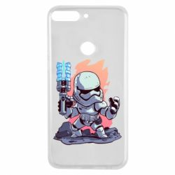 Чохол для Huawei Y7 Prime 2018 Stormtrooper chibi - FatLine