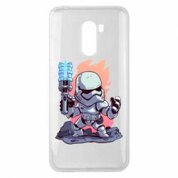 Чохол для Xiaomi Pocophone F1 Stormtrooper chibi - FatLine
