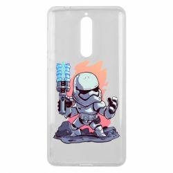 Чохол для Nokia 8 Stormtrooper chibi - FatLine
