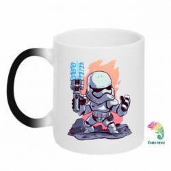 Кружка-хамелеон Stormtrooper chibi