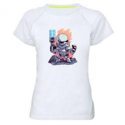 Жіноча спортивна футболка Stormtrooper chibi