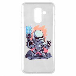 Чохол для Samsung A6+ 2018 Stormtrooper chibi