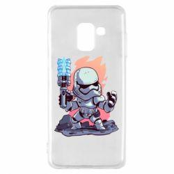 Чохол для Samsung A8 2018 Stormtrooper chibi