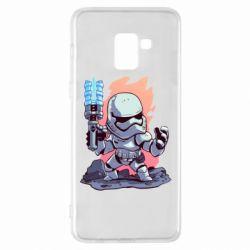 Чохол для Samsung A8+ 2018 Stormtrooper chibi