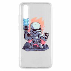 Чохол для Huawei P20 Stormtrooper chibi - FatLine
