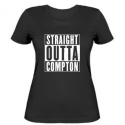 Женская футболка Straight outta compton - FatLine