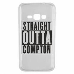 Чехол для Samsung J1 2016 Straight outta compton - FatLine