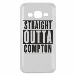 Чехол для Samsung J2 2015 Straight outta compton - FatLine