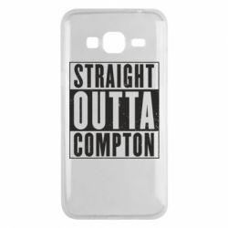 Чехол для Samsung J3 2016 Straight outta compton - FatLine