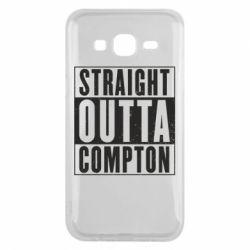 Чехол для Samsung J5 2015 Straight outta compton - FatLine