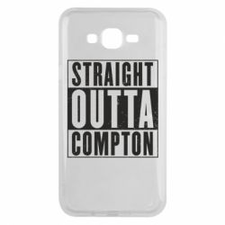 Чехол для Samsung J7 2015 Straight outta compton - FatLine