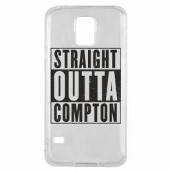 Чехол для Samsung S5 Straight outta compton - FatLine