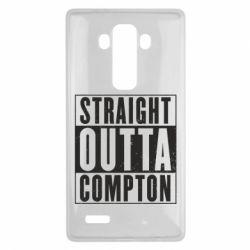 Чехол для LG G4 Straight outta compton - FatLine
