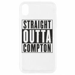 Чехол для iPhone XR Straight outta compton - FatLine