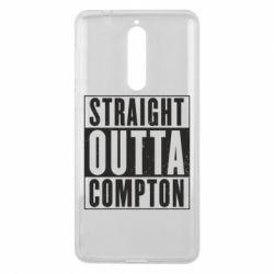 Чехол для Nokia 8 Straight outta compton - FatLine