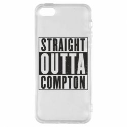 Чехол для iPhone5/5S/SE Straight outta compton - FatLine