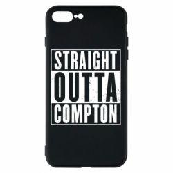 Чехол для iPhone 8 Plus Straight outta compton - FatLine