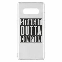 Чехол для Samsung Note 8 Straight outta compton - FatLine