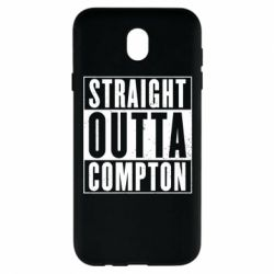 Чехол для Samsung J7 2017 Straight outta compton - FatLine