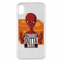 Чехол для iPhone X/Xs Straight Outta Mars