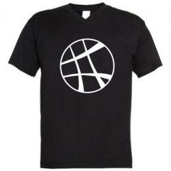 Мужская футболка  с V-образным вырезом Strange Logo