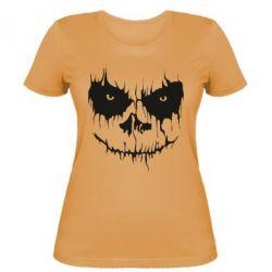 Женская футболка Страшная морда для светлого
