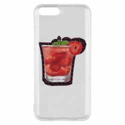 Чехол для Xiaomi Mi6 Strawberry cocktail on a background of flowers
